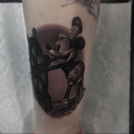 Steamboat Micky Mouse Tattoo Design Thumbnail