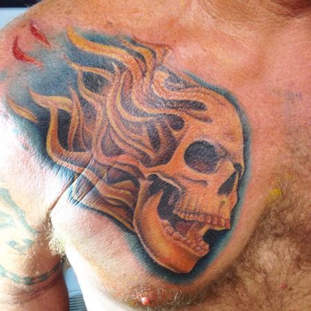 Tattoos - Flaming Skull - 97959