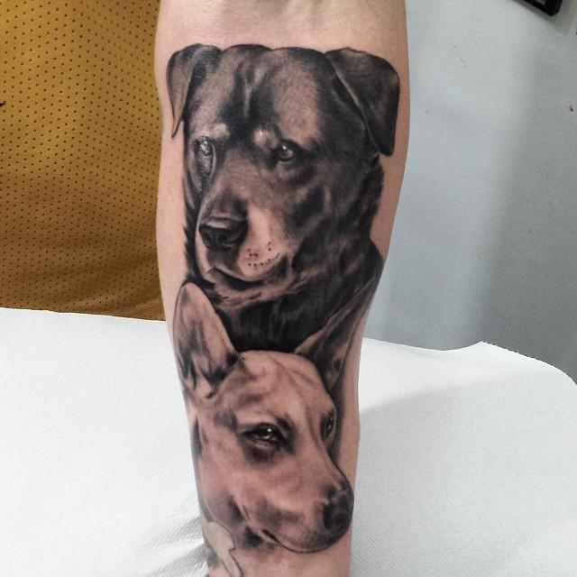 Tattoo portrait of a dog by marco biondi tattoonow for Tattoo of my dog