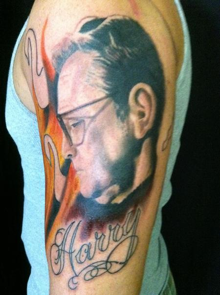 Hal Sawyer - Custom half sleeve in progress