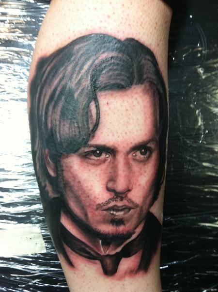 Hal Sawyer - Portrait of Johnny Depp