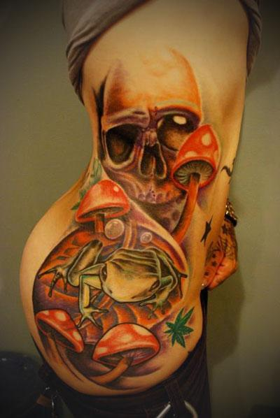 Gallery For &gt Evil Mushroom Skull Tattoo