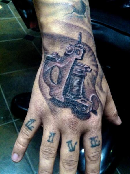 tattoo machine hand tattoo Tattoo Design Thumbnail