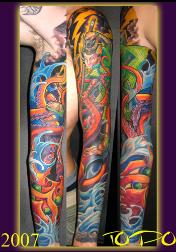 Tattoos - Samurai and octopus - 20732