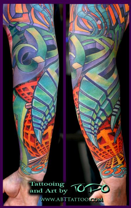 Tattoos - Abstract Bio Mech. - 65182