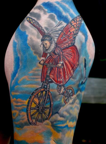Tattoos - Bicycle cloud surfing - 58938
