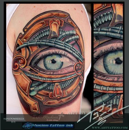 Bio-Punk Eye Tattoo Design Thumbnail