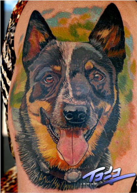 Tattoos - Blue Healer portrait - 66674
