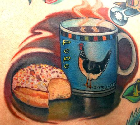 Tattoos - Coffee and donut - 62995