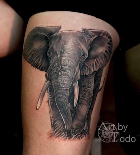 Tattoos - African Elephant - 123465