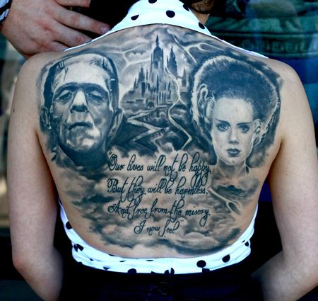 Tattoos - Frankenstein back piece - 65183