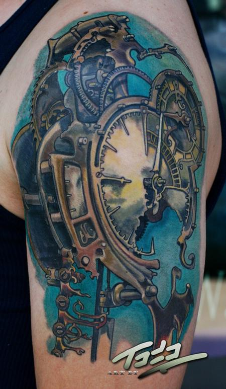 Steampunk Clock Tattoo Design Thumbnail