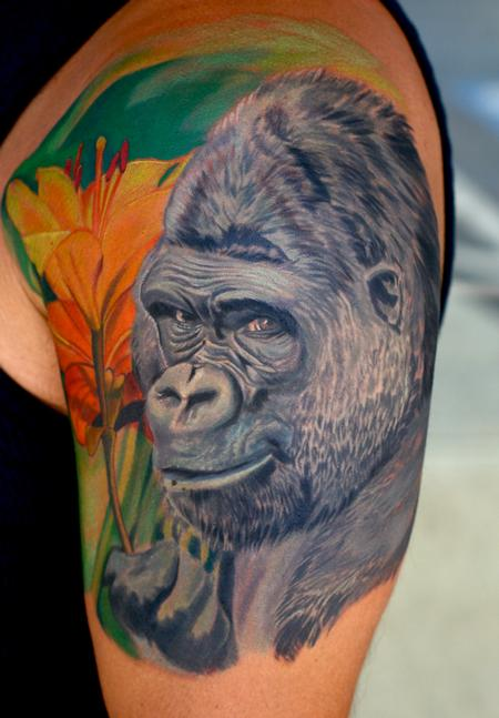 Gorilla Love Tattoo Design Thumbnail