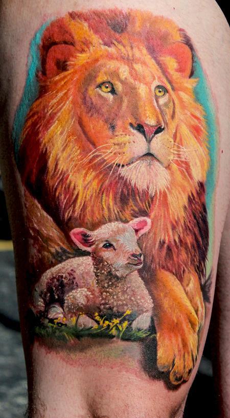 Tattoos - Lion and Lamb - 82353