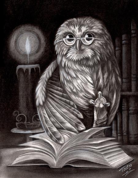 Tattoos - Book Owl - 60938