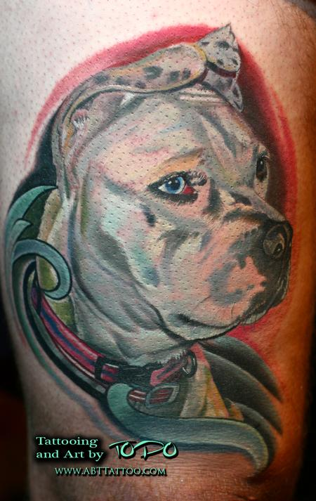 Tattoos - Pit bull portrait - 65184