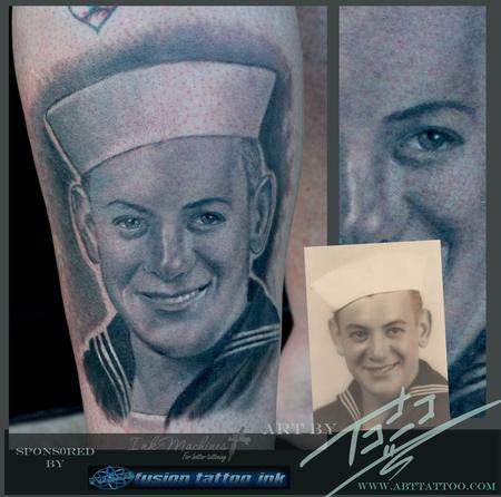 Old Navy Portrait Tattoo Design Thumbnail