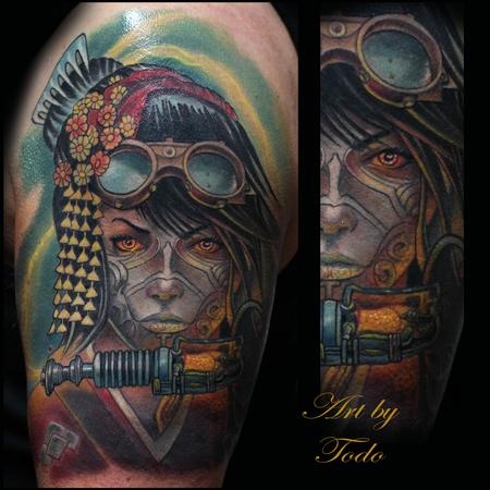 Tattoos - Steam-Punk Geisha Warrior - 86589