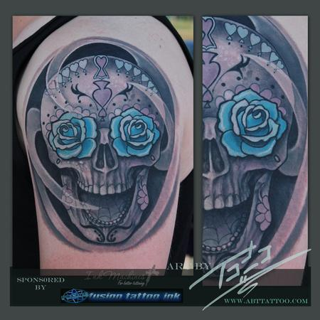 Sugar Skull Tattoo Design Thumbnail