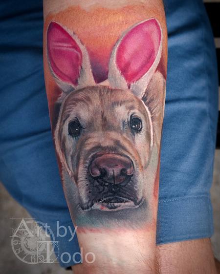 Tattoos - Bunny Dog - 131733