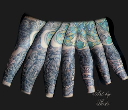 Tattoos - Japanese style sleeve - 89129
