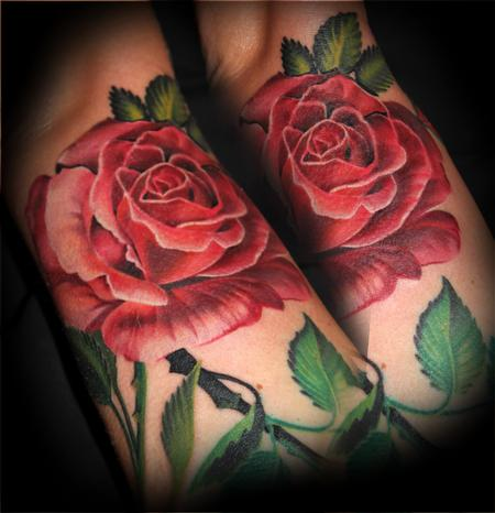 Tattoos - Pink Rose - 108723
