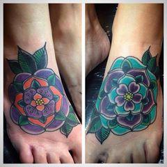 Tattoos - Flower Feet - 106338