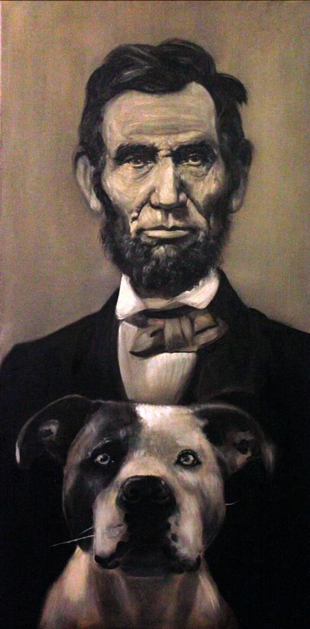 Tony Adamson - Abraham Lincoln painting