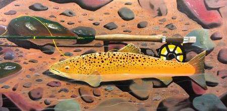 Tattoos - Trout Painting - 106347