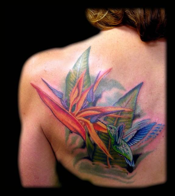 Bird of paradise tattoo - photo#5