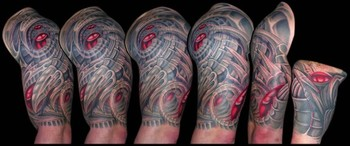 Tattoos - Bio-Organic / Mech Panoramic - 42399