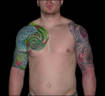 Tattoos - Both Half Sleeves Represented  - 42401