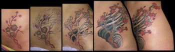 Tattoos - Cherry Blossom Tree Coverup - 42395