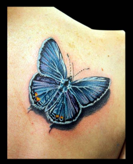Tattoos - Eastern Tailed Blue Butterfly   - 65081