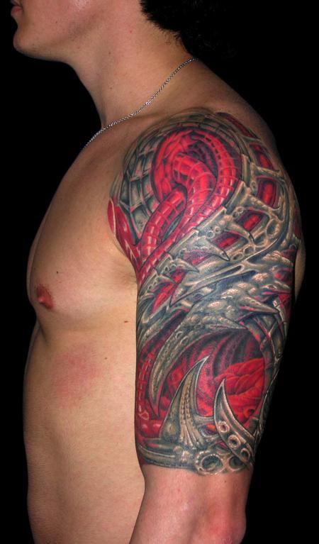 Tattoos - Bio Mech / Bio Organic Cover Up  - 79370
