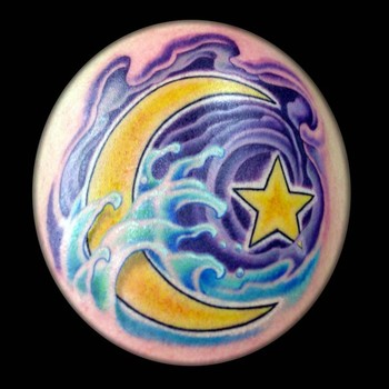 Tattoos - Islamic Moon and Star - 42408