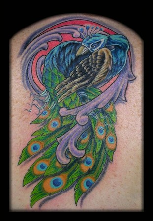 Tattoos - Peacock Coverup - 42419