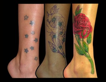 Tattoos - Rose Covering Stars - 37676