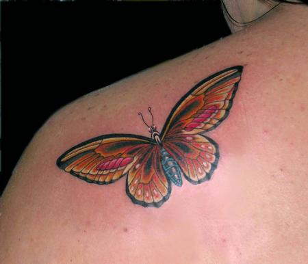 Tattoos - Orange Butterfly - 79376