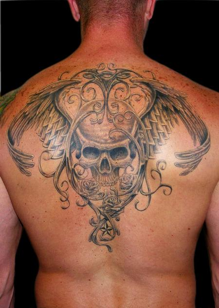 Aaron Goolsby - Winged Skull and Filigree