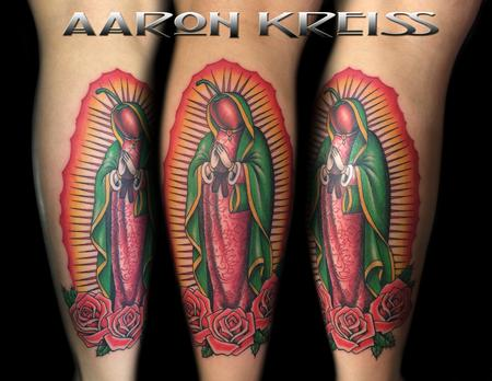 funny virgin mary chili pepper tattoo Tattoo Design Thumbnail