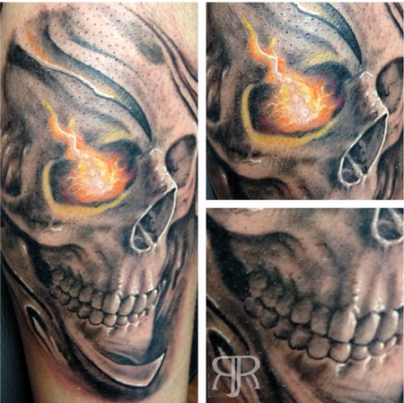 Tattoos - Skull Flame - 89428