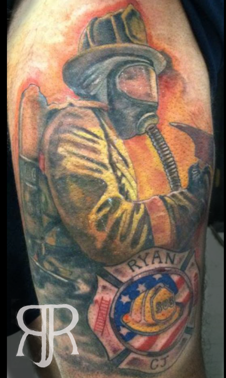 Tattoos - Firefighter Cover up - 89427