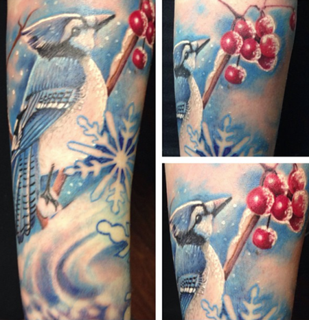 Tattoos - Blue Jay Tattoo - 89291