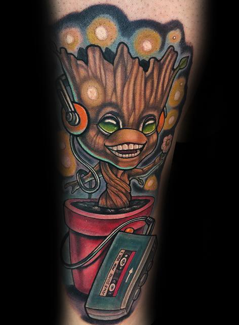 i am groot by adam aguas tattoonow. Black Bedroom Furniture Sets. Home Design Ideas