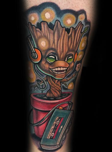 I am Groot Tattoo Design