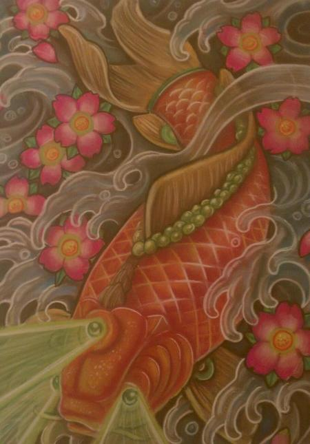 Adam Aguas - Koi Fish Painting