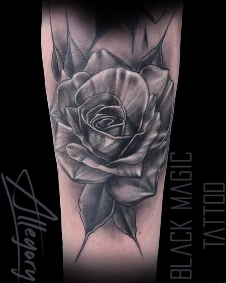 Black and Gray Rose Design Thumbnail