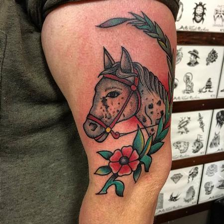 Tattoos - Traditional Horse Head - 129026