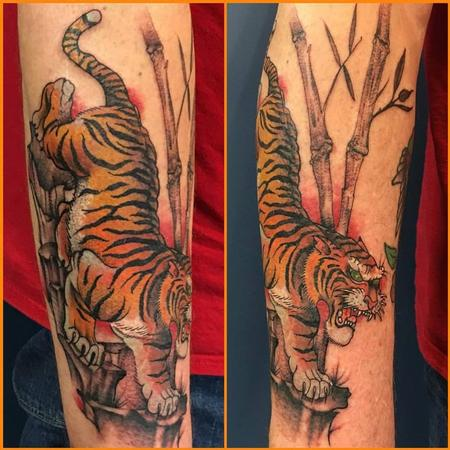 Tattoos - Tiger and Bamboo Tattoo - 129037
